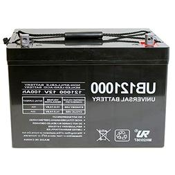 Universal Power Group 12V 100Ah Battery for Minn Kota, Minnk