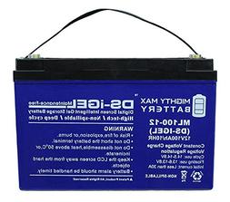 Mighty Max Battery 12V 100AH GEL Battery Replacement for Kot