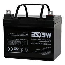 Weize AGM 12V 35AH SLA Deep Cycle Battery for Minn Kota Endu