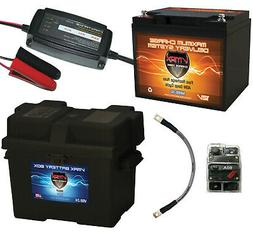 12V 50AH Trolling Motor AGM Battery Kit for Watersnake Trace