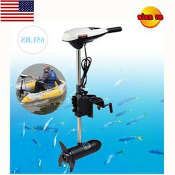 Hangkai 12V 65lb Outboard Electric Thrust Trolling Motor Inf