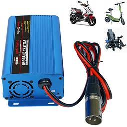 24V 5Amp Smart Automatic Battery Charger, Portable Battery M