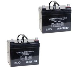 2PK UPG UB12350 12V 35AH  Battery 4 Power Boat Pontoon Elect