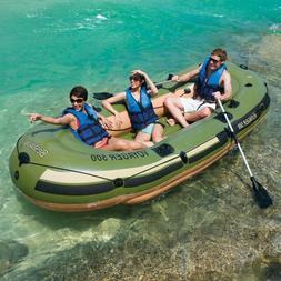 3 Person Inflatable Pontoon Boat Dinghy Fishing Lake Raft 55