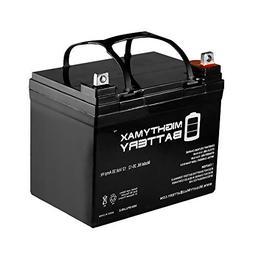 Mighty Max Battery ML35-12 - 12V 35AH U1 Deep Cycle AGM Sola