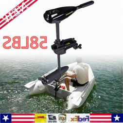 58LBS Electric Trolling Motor Transom Mount Fishing Boat Shi