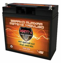 VMAX 600 12V DEEP CYCLE AGM BATTERY IDEAL FOR 18LB-24LB MINN