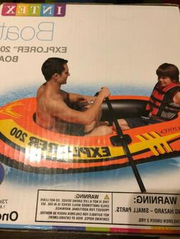 "Intex 73"" x 37"" Explorer 200 Inflatable Swimming Pool Boat F"