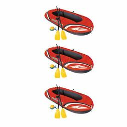 Bestway 77x45 Inches HydroForce Inflatable Raft Set with Oar