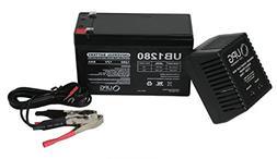12V 8Ah Battery for Kalee Bigfoot Sport Quad 12V 1Ah Charger