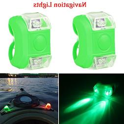 Botepon 2Pcs Boat Kayak Navigaton Light Safety Light Led Boa