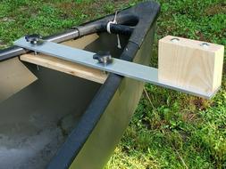 Canoe trolling motor mount -  2.5 Aluminum Crossbar w/ Ash M