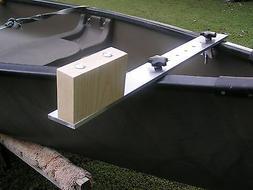 "Canoe Trolling Motor Mount/Bracket - 3"" Alum X-Bar-Ash Block"