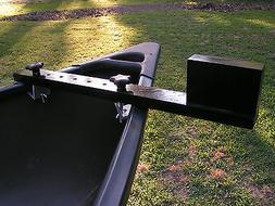 Canoe trolling motor mount - Multiposition Black - FREE SHIP