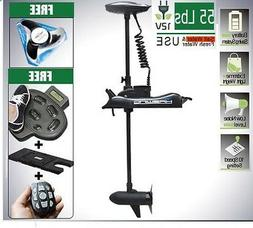 12V 55LBS Electric Bow Mount Trolling Motor & Accessories Wh