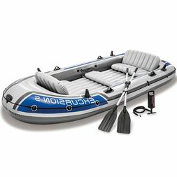 5-Person Inflatable Boat Set, Air Pump Output, Motor Fitting