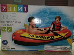Intex Explorer 200 2-Person Inflatable Boat oars and pump in