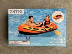 Intex Explorer 200 Boat Set w/ Air Pump Inflatable Raft Best