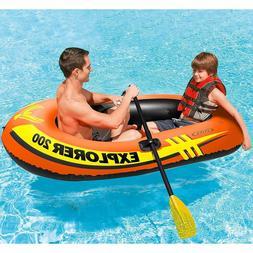"""Intex Explorer 200, 2-Person Inflatable Boat 73""""x37""""x16"""""""