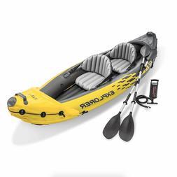 Intex Explorer K2 Kayak, 2-Person Tandem Inflatable Set with