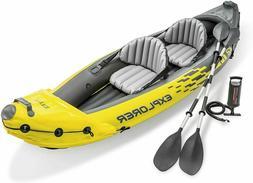 Intex Explorer K2 Kayak, 2-Person Inflatable Kayak Set with