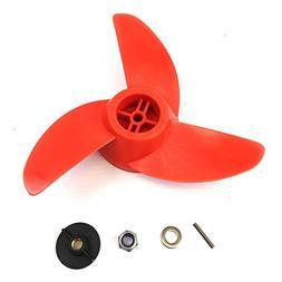 SEAMAX Fiberglass Reinforced Orange Nylon Propeller Kit for