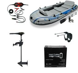 Intex Excursion 5 Inflatable Boat KIT With Trolling Motor +