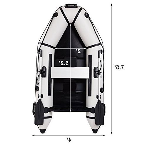 Goplus 2 Inflatable Dinghy Boat Fishing Tender Deep