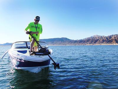 B 12V 55LB Shaft TROLLING Fishing +Remote.C
