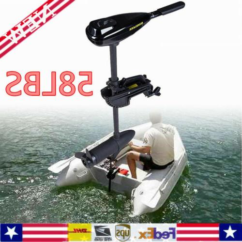 58lbs electric trolling motor transom mount fishing