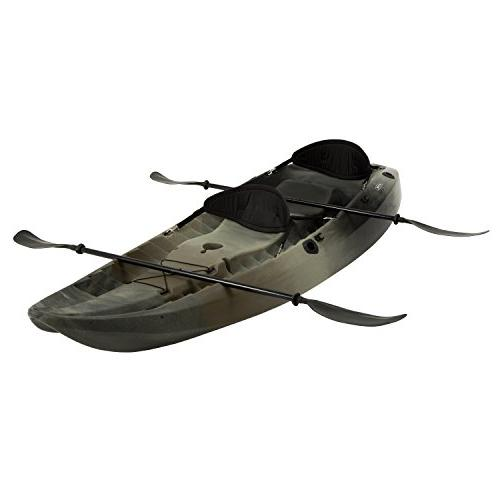 Lifetime, 10', 3-Man Sport Fisher Kayak, Camouflage, with Bo