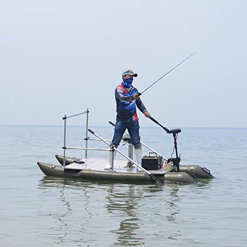 Aquos Black 24V 85LBS Transom Electric Trolling Fishing, Saltwater Use, Motor
