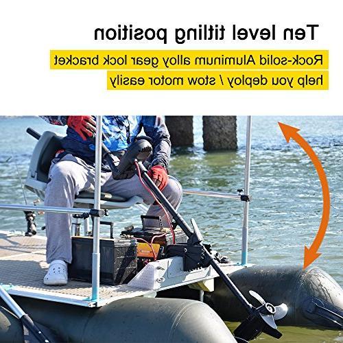 "Aquos Black 85LBS 35.5"" Electric Trolling Fishing, Freshwater Use, Brushless"