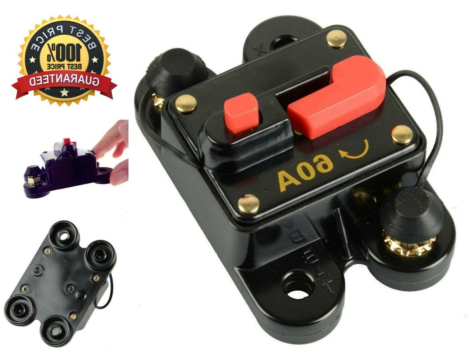 60 Amp Circuit Breaker Trolling Motor Car Marine Boat Bike S