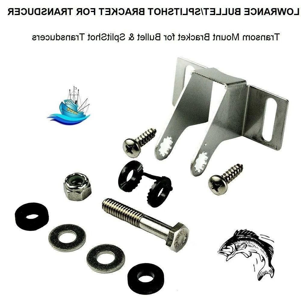 bullet splitshot transom mount transducer bracket 69128