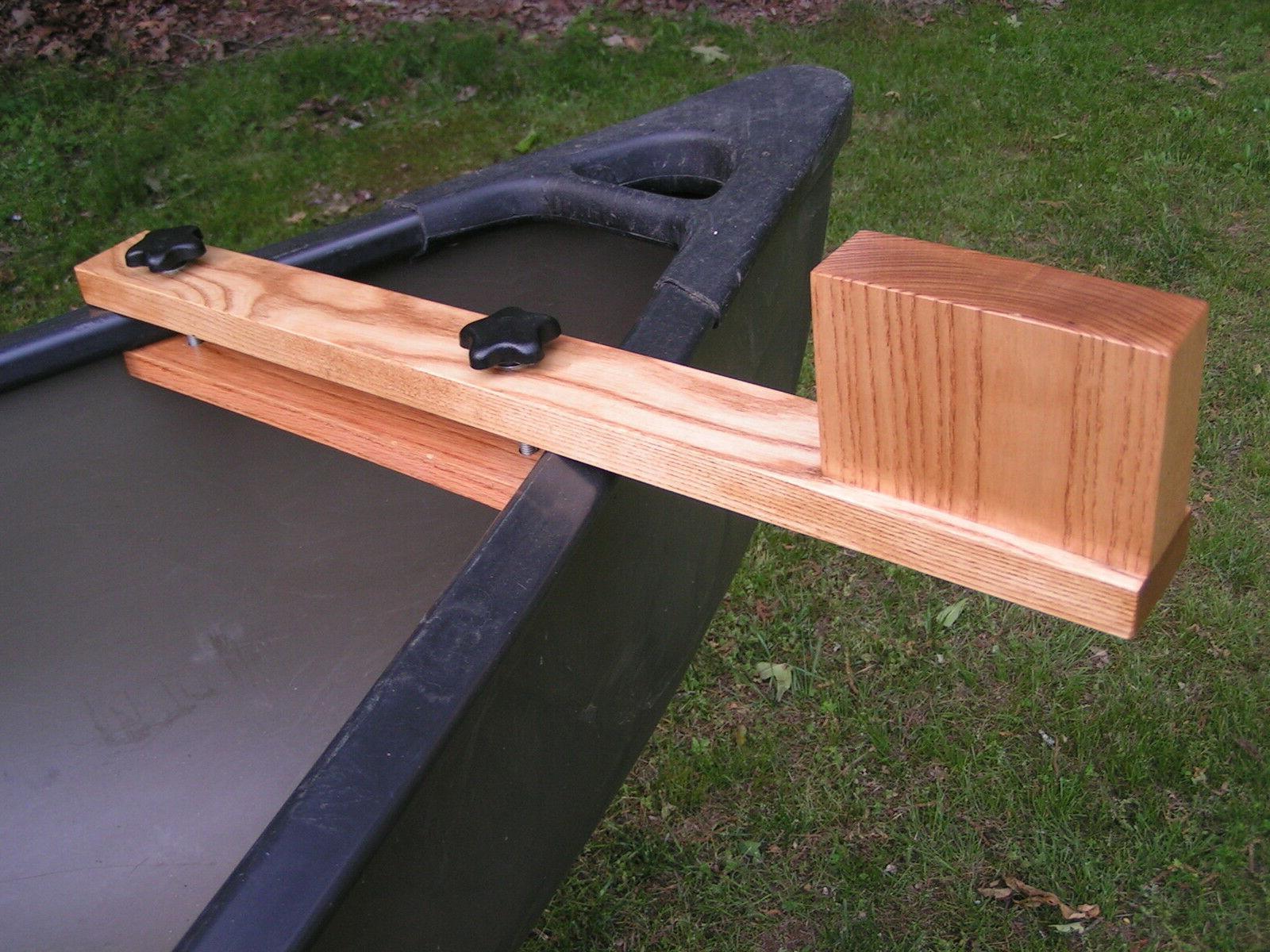 canoe trolling motor mount solid ash natural