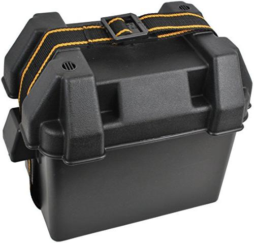 attwood 9082-1 Series Vented Marine Boat Battery Mounting and Black