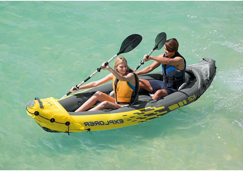 Intex K2 Kayak- 2 Inflatable Set with Oars Airpump