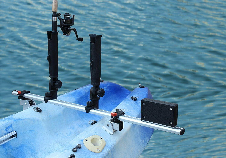 fishing kayak trolling motor mount universal two