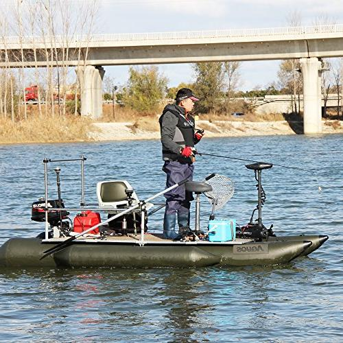 Aquos CaymanB Mount Trolling Motor 12V 55 Thrust with Wired …