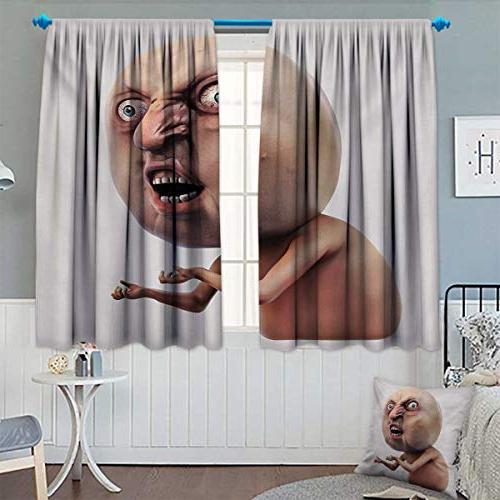 humor waterproof window curtain scary
