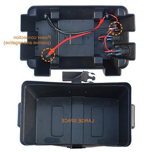 IZTOSS Power Center Battery Box with Voltmeter,USB 12V Port