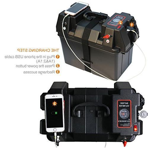 IZTOSS Motor Power Station Box with 12V Port
