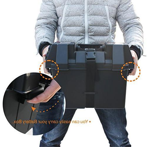 IZTOSS Marine Power Center Battery Box with Voltmeter,USB and 12V