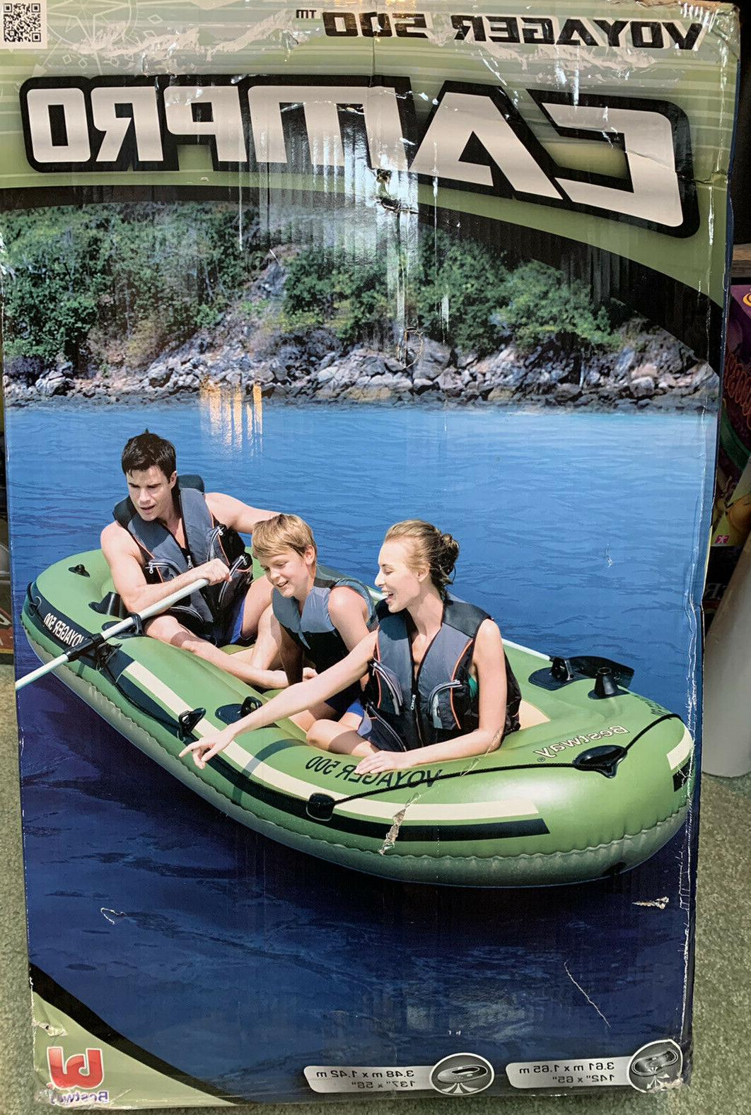 new 3 person voyager 500 inflatable boat