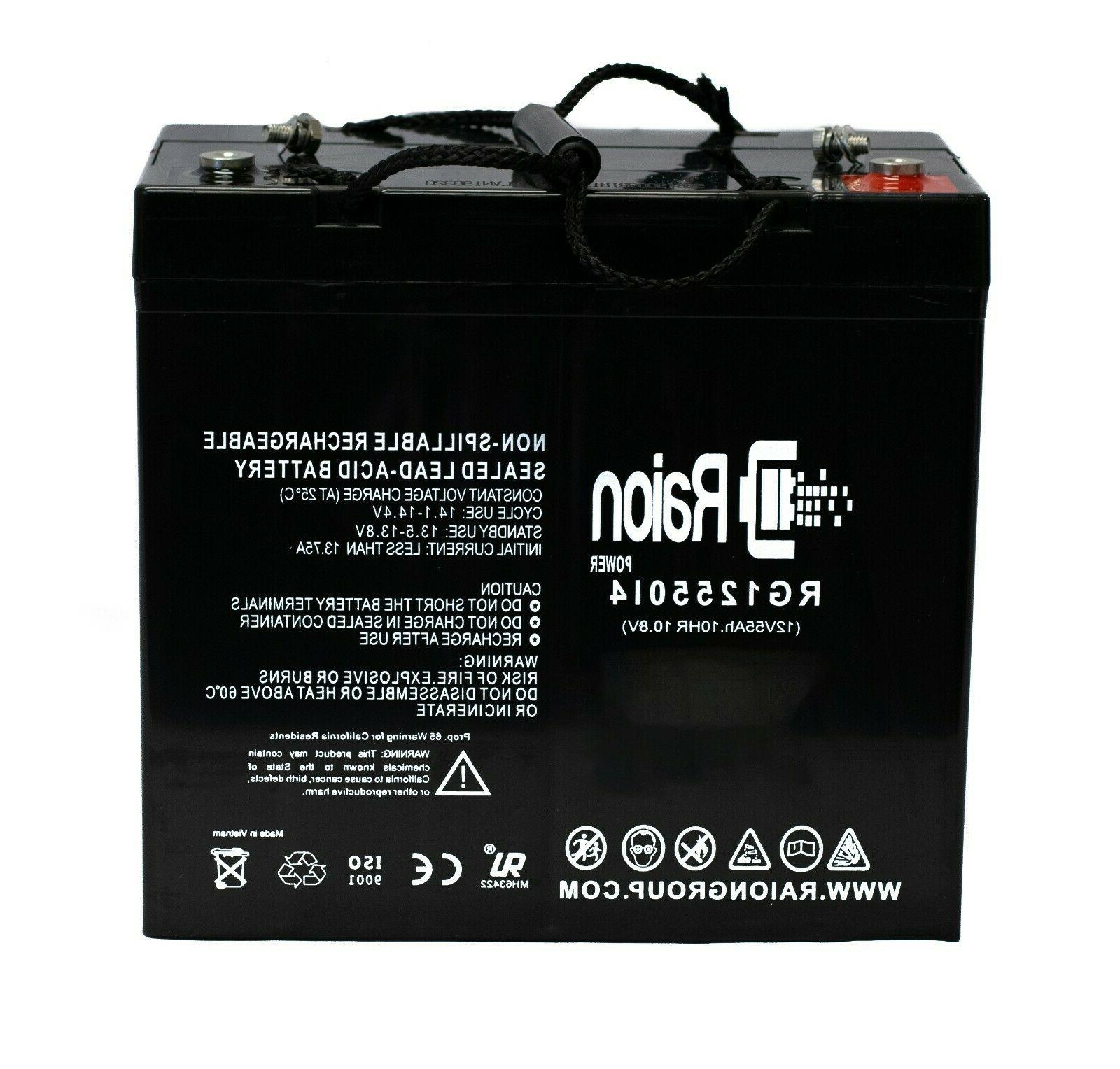 Raion UPG 12V 55Ah Power Trolling Deep Cycle Battery