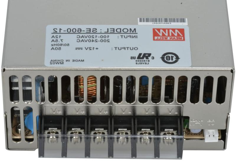 MEAN WELL AC to DC Power Supply, Single Output, 12V, Amp,