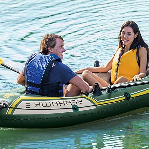 Intex 2-Person Inflatable Boat French High Output Air Pump