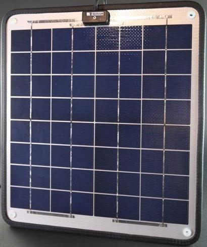 """NOW Amp - Solar Charger Marine Solar - Volt Plug Play 15.7"""" W Thick. cable."""