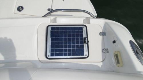 """NOW 20 Amp Charger Marine & Trolling Motor Solar Panel - Volt No Plug Dimensions 14.1"""" L 15.7"""" x Thick. 10' cable."""